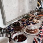 Picnic buffet table